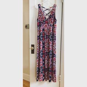 Boho Cross-back Maxi Dress